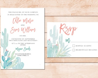 Desert Wedding Invitation Set