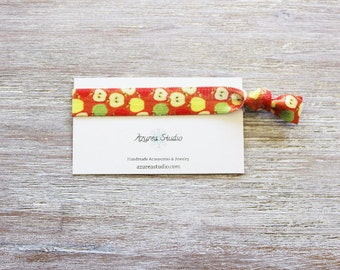 Apples Red Yellow Green Hair Tie