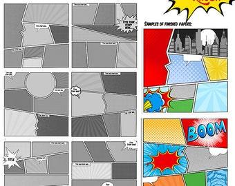 comic book strips template