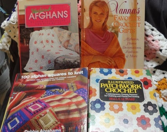 Four (4) AFGHAN PROJECT BOOKS