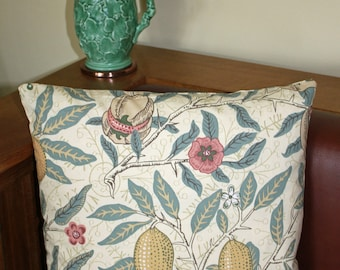 "William Morris Fruit Complete Cushion 16"" x 16"" - Sanderson Fabric"