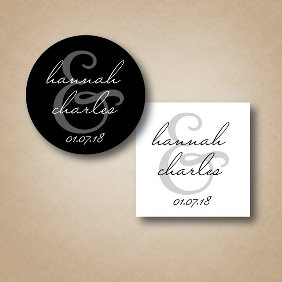 Wedding Labels Favor Stickers Wedding Favor Tags Round Stickers Custom ...