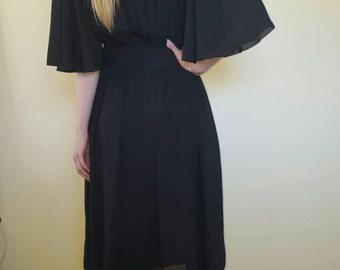 Vintage 1980s COCO black dress. Size M/L