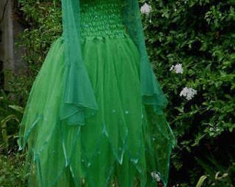 Adult  Fairy Costume ~ Tinkerbell   Dress ~Halloween Theatre ~ Masquerade