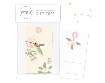 Gift tags - Hummingbird | 10 pcs - 5 x 9 cm / 19.7 x 27.5 inches