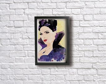 THE EVIL QUEEN poster - Inspired by the Once Upon a Time Series , Giclée Fine art prints.
