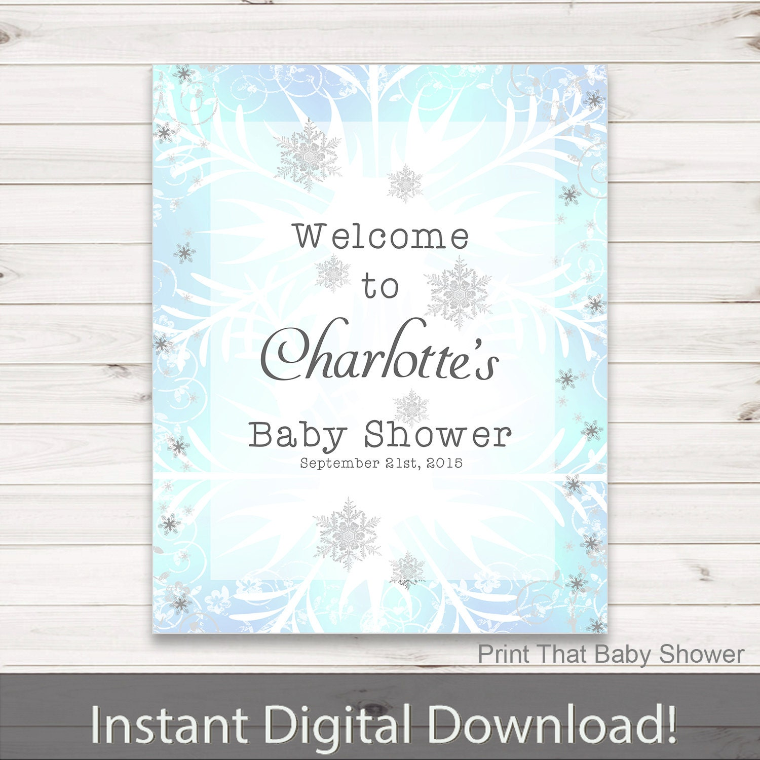 baby shower welcome sign frozen baby shower personalized