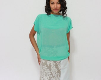 Turquoise Chiffon throw and go blouse
