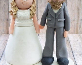 Bride and Groom Cake topper DEPOSIT, personalized wedding cake topper, custom wedding, bride and groom cake topper