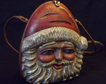 Timmy Woods Beverly Hills Collection hand carved Santa Clause Purse made in Philippines