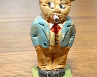 Vintage Wood Carved and Painted Figure