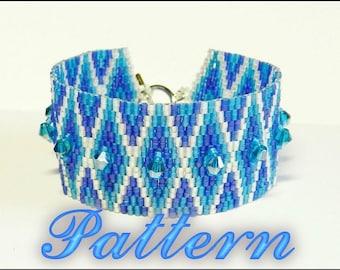Beading pattern Bracelet . Odd count 2 drop peyote. Seed bead paettern. Instant Download. Pattern PDF