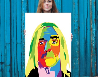 Inspired by Iggy Pop Poster 24x36