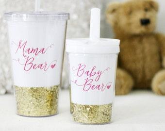 Mama Bear, Mama Bear Tumbler, Mama Bear Cup, Baby Bear