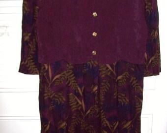 Vintage Miss Dorby School Marm Maxi Dress Wonderful Career Find Size 12