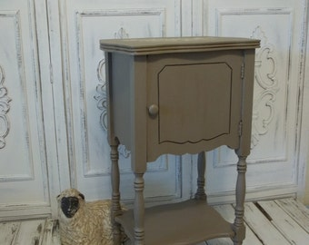 Chabby Chic French Country Paris Small Vintage Accent Table Cabinet