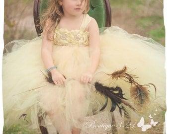 Yellow Flower Girl Dress, Yellow tutu dress, Yellow Flower Girl Tutu Dress, Yellow and pearls flower girl tutu dress, flower girl