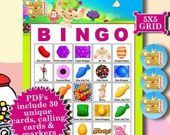 Candy Crush 5x5 Bingo printable PDFs contain everything you need to play Bingo.