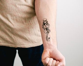 2 Dark Mark Temporary Tattoos - SmashTat