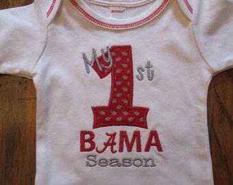Bama Onesie, My first Bama Season, Alabama onesie