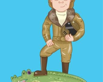 Red Dwarf Birthday Card - Ace Rimmer - Sci-fi Geeky Funny
