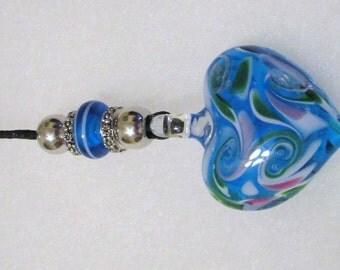 1280 - NEW Puffy Heart Mirror Charm