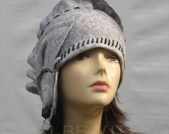 Cloche hats handmade Gray hat Women's kentucky derby hat  wool  Cloche hats head accessories womens cloche hat Downton Abbey Hat Gatsby