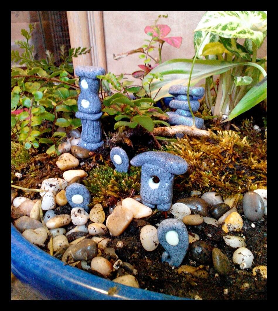 Set of 6 fairy garden miniature zen garden by calicocreationz - Zen garten miniatur set ...