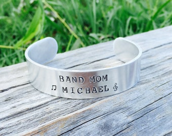 Band Mom CUFF Bracelet | Band Jewelry | Band Bracelet | High School Marching Band Jewelry | Band Mom Gift | Gift For A Marching Band Member