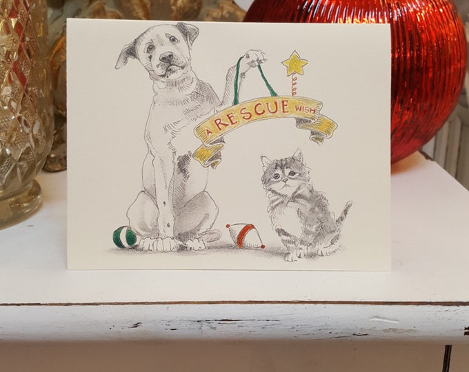 Rescue Holiday Card