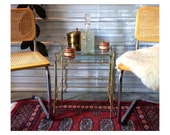 Vintage Brass Nesting Tables