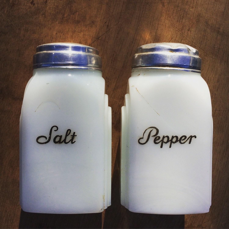 milk glass salt and pepper shakers. Black Bedroom Furniture Sets. Home Design Ideas