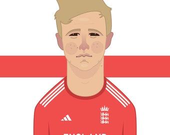 Joe Root England Cricket Art Print