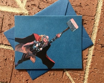 Marvel Avengers/Civil War All New Lady Thor Comic Book Greeting Card (Blank)