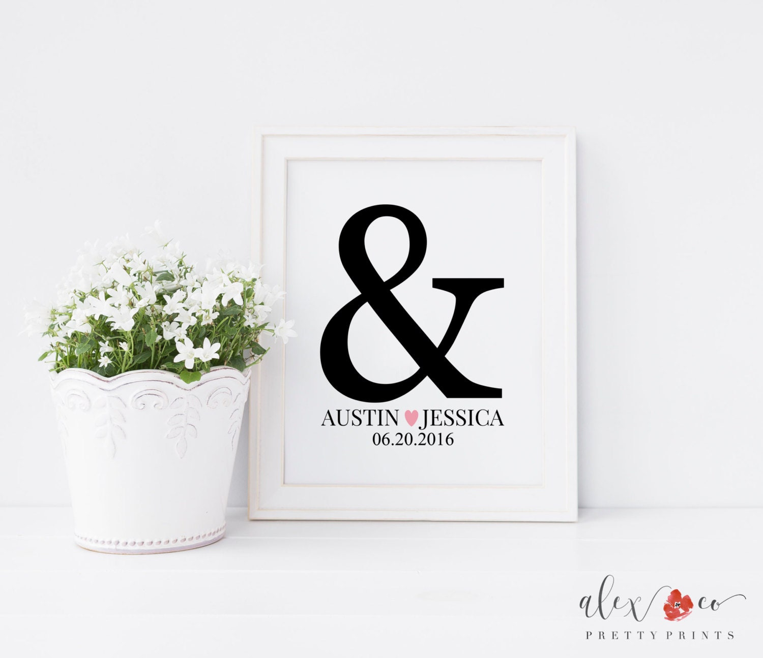 Monogrammed Wedding Gifts For Couple : Personalized Wedding Gifts for Couple. Bride and Groom Gift.