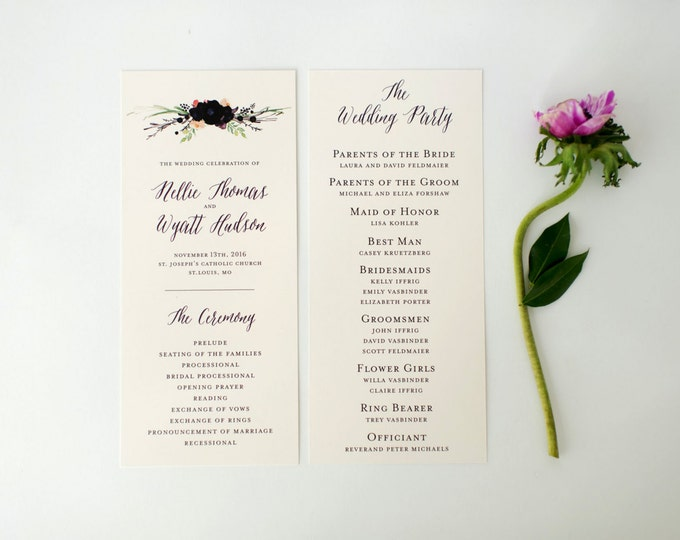 nellie wedding programs (sets of 10)  // lola louie paperie