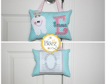 Tooth Fairy Pillow - Personalized Tooth Fairy Pillow - Girls Tooth Fairy Pillow - Tooth Fairy Pillow for Door