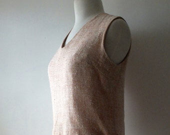 1960s blush sleeveless crop top + Vintage v-neck rose quartz shirt