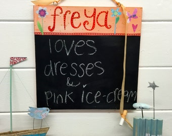 Personalised girls chalkboard