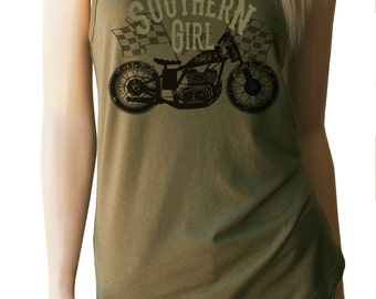 Southern Girl Motorcycle Tank Top. Southern Shirts. Motorcycle Shirt. Womens Motorcycle Shirt. Motorcycle Tank Top. Motorcycle Shirts.