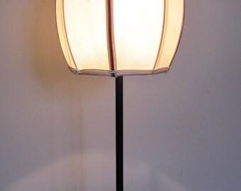cylindrical lamp domed silk taffeta