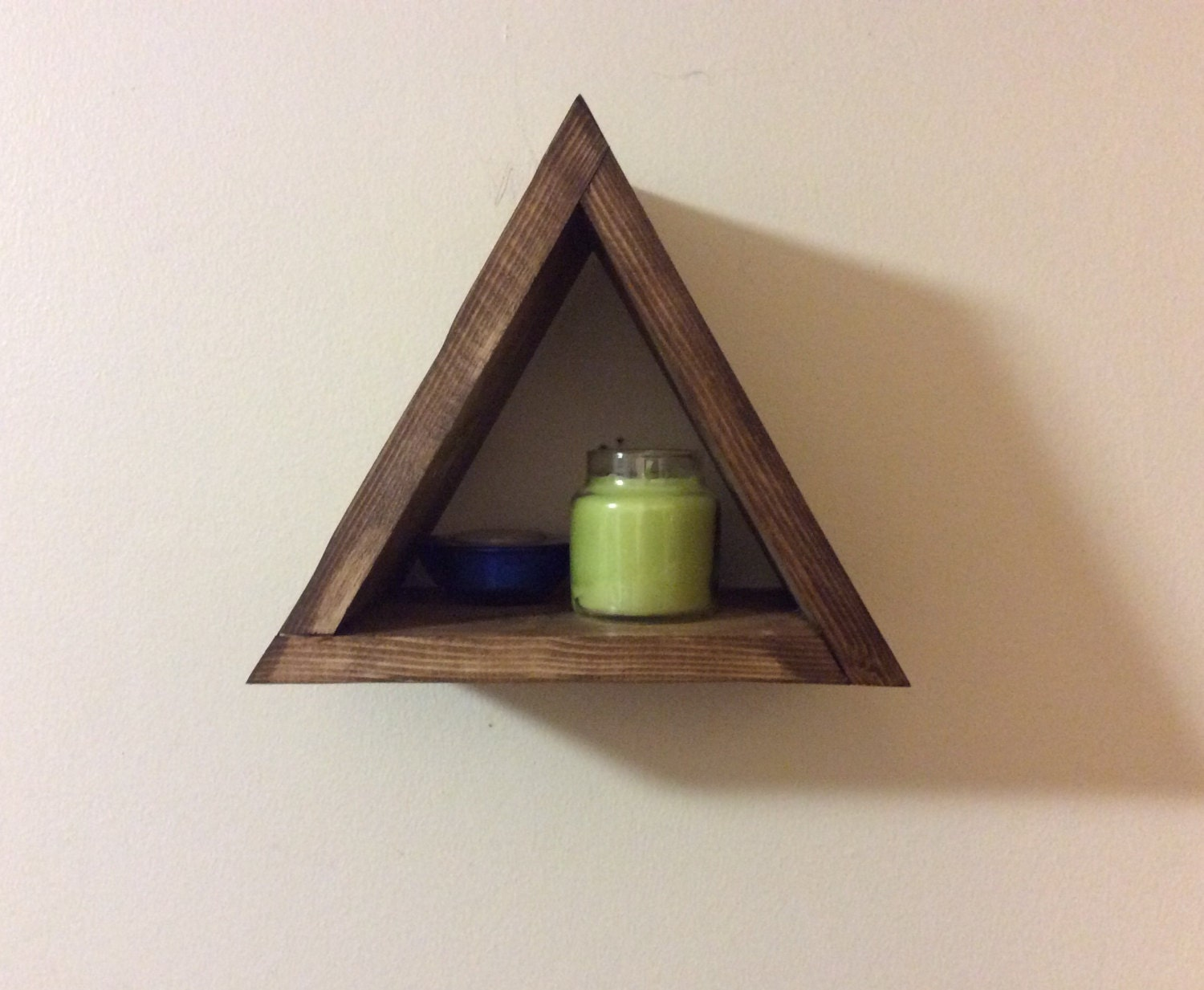 Small triangular shelf triangle shelf modern home decor - Triangular bookshelf ...