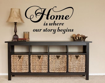 Home Is Where Our Story Begins Decal Home Wall Decal Home Vinyl Decal Family Wall Decal Our Story Decal Family Vinyl Decal Family Quote