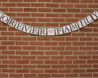 Forever Family Banner - Adoption Banner - Parenting Banner - Our Story Banner