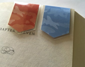 Bookmark Set of 2 (Camouflage, blue and orange)