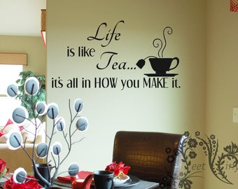 Kitchen Wall Decal Etsy - How to make vinyl decals for walls