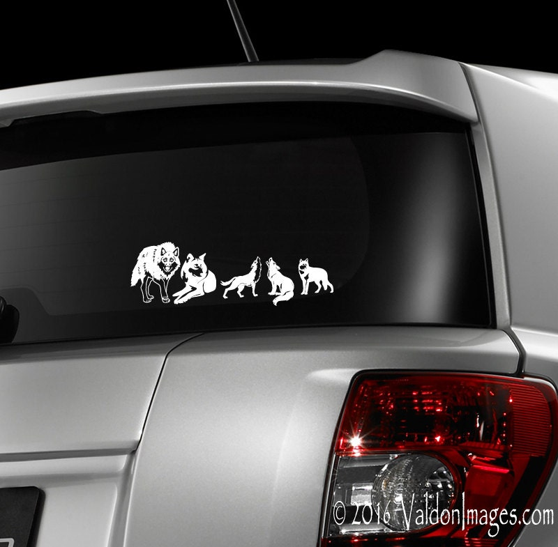 Wolf Pack Car Decal Wolves Laptop Decal Stick Family - Cool car decals designcar decal sticker square chain design car design