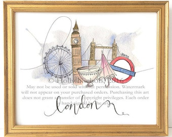 London Whimsy (Fashion Illustration Print)