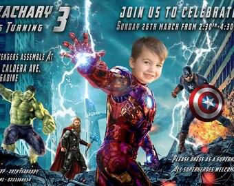 IRON MAN invitation PARODY, Avengers invitation, superhero birthday invite, boy's birthday invitation, Avenger party, Marvel comics parody