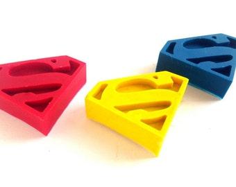 50 Superman Shaped Crayons, Superman Party Favor, Superman Birthday, Superman Valentine, Classroom Valentine, Supergirl, Easter Basket